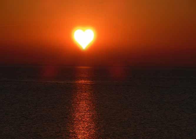 zonsondergang hart